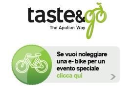Taste and go Puglia, noleggio biciclette, e-bike, Bici elettroniche, Eletric Bike